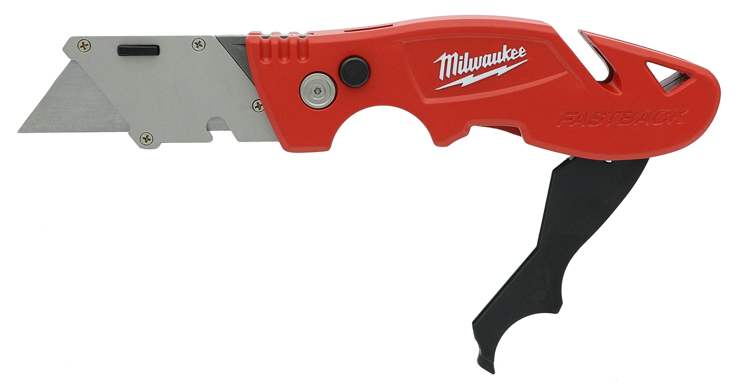 Milwaukee 48-22-1903 Fastback 3 Utility Knife with 4 Blade Storage, Wire Stripping Compartment, and Gut Hook
