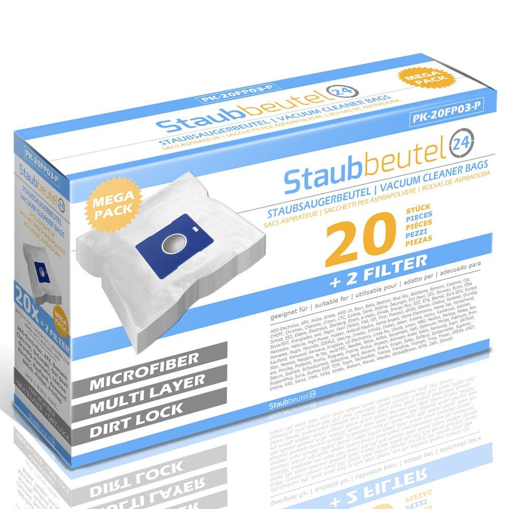 Acquisto Staubbeutel24 Top – 20 Premium Sacchetti per Aspirapolvere Daewoo RC-105D, RC-450, RC-192 K, RC-7006B, RC-1650, RC-605D, RC-210, RCG-100, RC-110, RC-550, RC-205D, RC-805, RC-173 Dk, RC-609 D, RC-405 Prezzo offerta