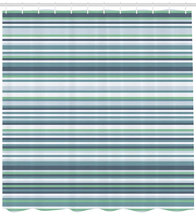 ABAKUHAUS Flor Cortina de Baño, Algodón Abstracto Diseño Floral Nervado Natural Botánico Plantas Imagen Arte, Material Resistente al Agua Durable Estampa ...