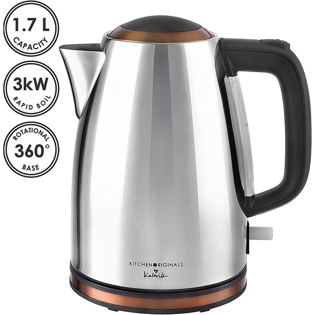 Kalorik Stainless Steel Kettle, Copper, 1.7 Litre Capacity