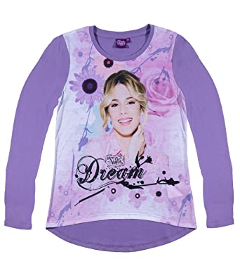 2016 Fille Collection Manches Tee Longues Shirt Violetta Disney IfgmY7v6by