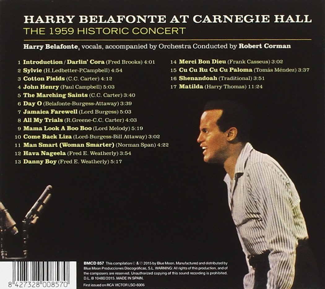Harry Belafonte at Carnegie Hall. The 1959 Historic Concert