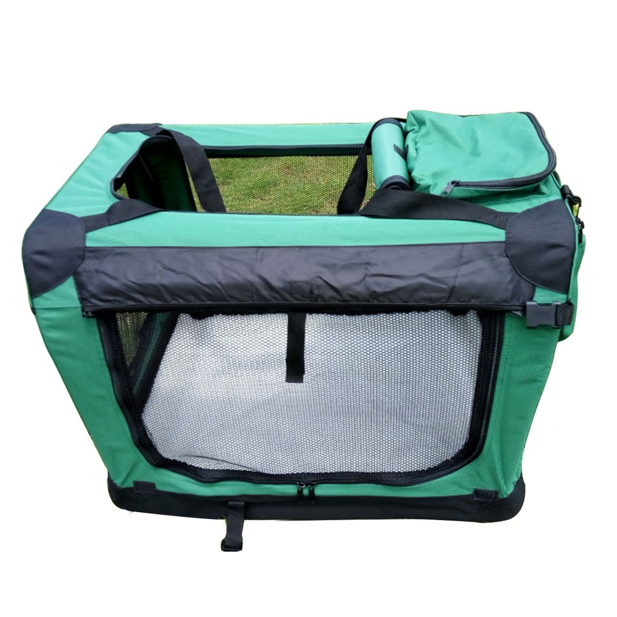 Green S green S shanzhizui Pet tent nest Outing pet cage Car kennel Cat nest 1.9cm steel dog cage, green, S