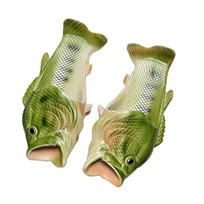 OULII Fish Slippers Summer Beach Sandals Non-slip Shower Pool Slippers - Size 38/39