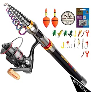 PLUSINNO® Spinning Caña y Carrete Combos de Pesca de Altura ...