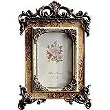 Giftgarden Bilderrahmen 10x15cm Gold Vintage Fotorahmen Shabby Chic antiker deko