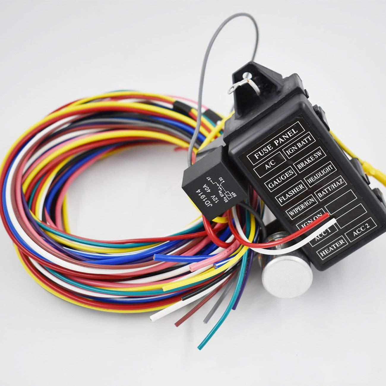 LasVogos Arnés de cableado Universal de 12 circuitos para los alambres de Rod XL de Rod de Calle del automóvil del Coche del músculo: Amazon.es: Juguetes y ...