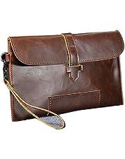 NUBEN Men Clutch Wallet Fashion Synthesis Cowhide Big Capacity