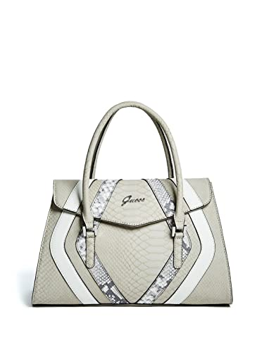 b29ec2a870 Amazon.com  GUESS Women s Alton Flap Satchel Stone Multi One Size  Shoes