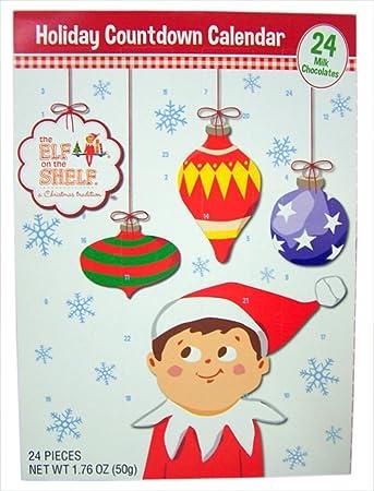 2017 elf on the shelf advent christmas countdown calendar with 24 milk chocolates