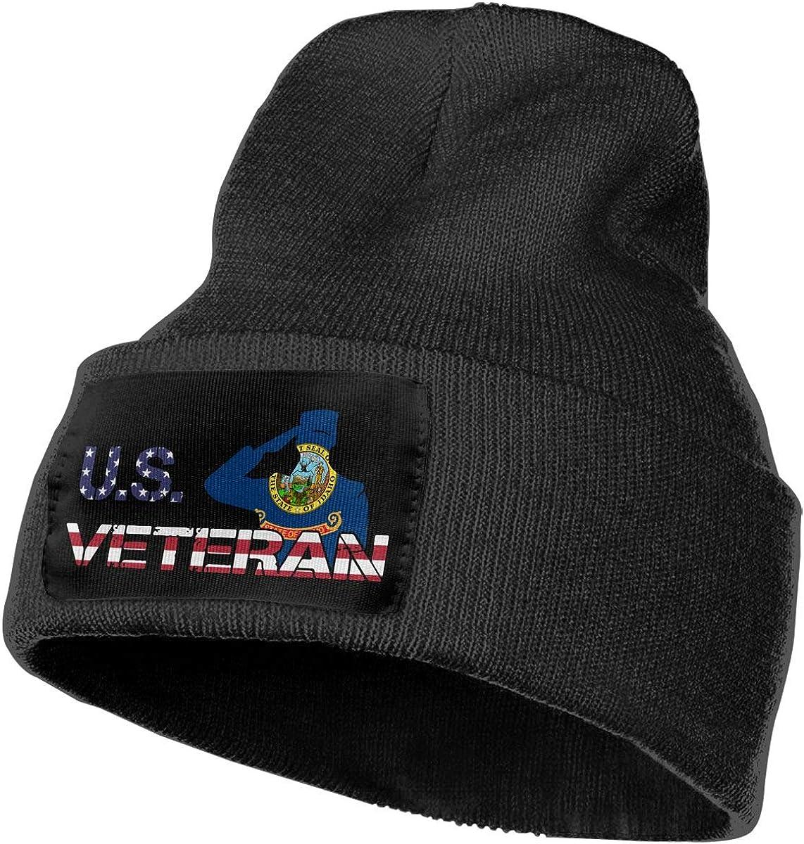COLLJL-8 Men//Women American Veterans Day Idaho Flag Outdoor Warm Knit Beanies Hat Soft Winter Skull Caps