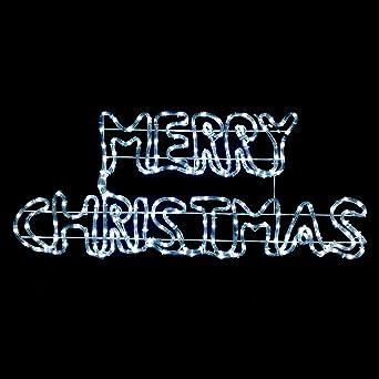 Led Frohe Weihnachten.Handumdrehen Weiß Led Schild Frohe Weihnachten Lichtschlauch