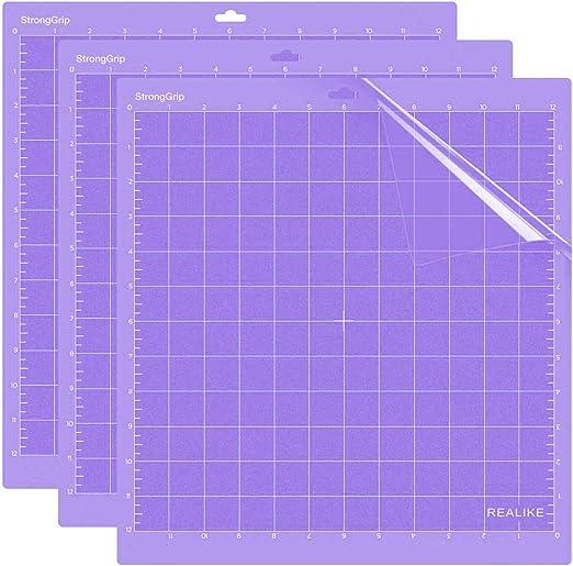 """REALIKE Agarre Fuerte Adhesivo Alfombrilla de Corte 3 uds 12X12"""" de Adherencia Cutting Mat paraTodas las Máquinas Silhouette Cameo y Cricut: Amazon.es: Hogar"""