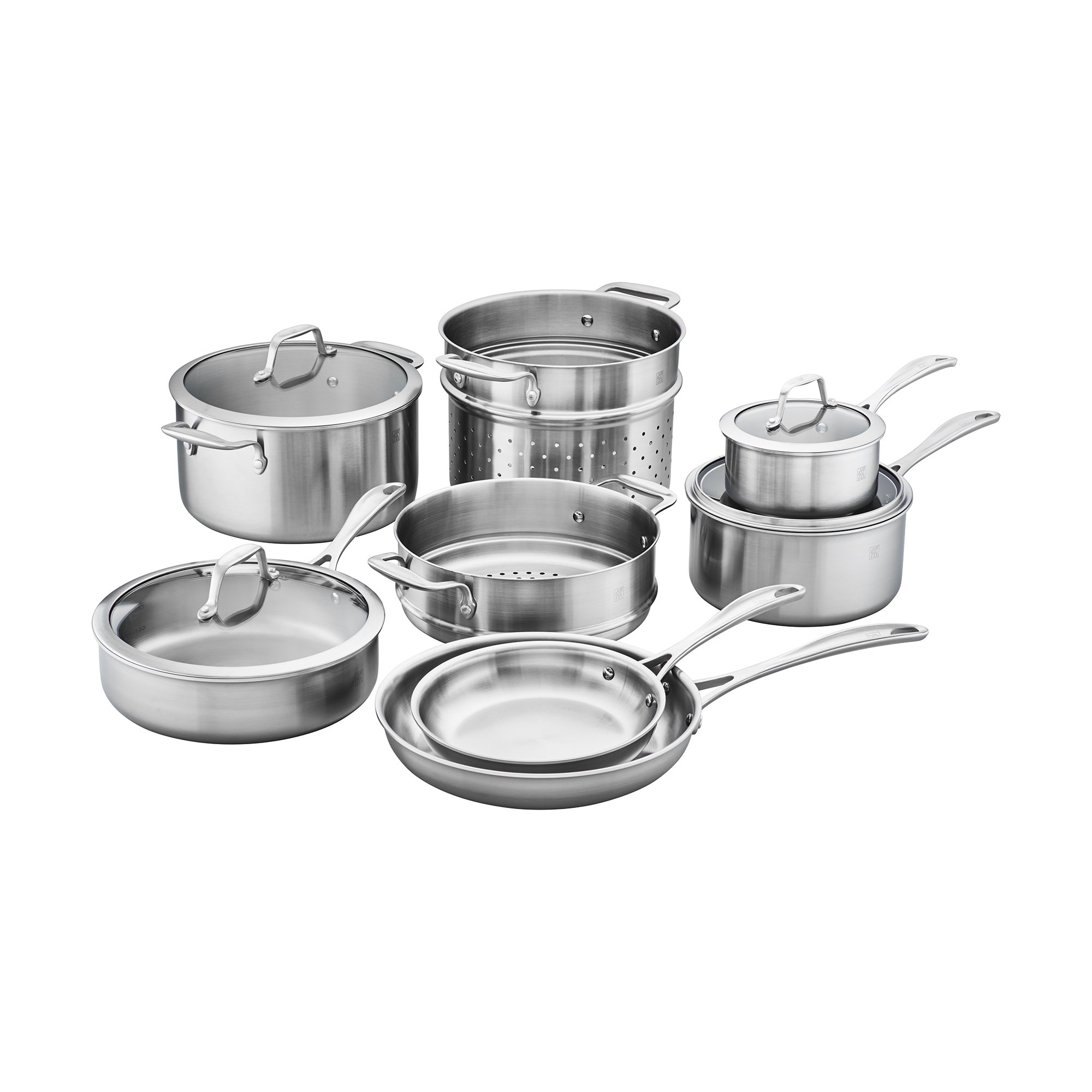 ZWILLING Spirit 3-ply 12-pc Stainless Steel Cookware Set