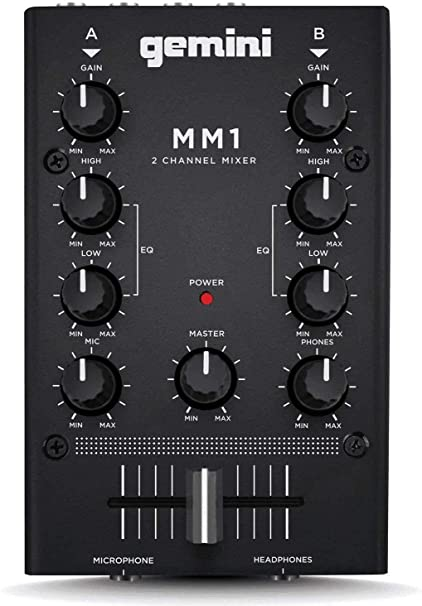 GEMINI MM 1 2-canal analógico Mini mezclador de DJ: Amazon.es ...