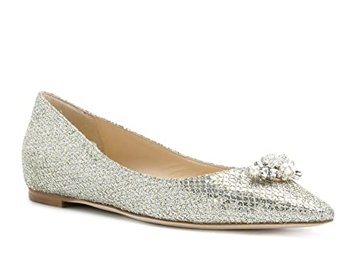 a9b814be0ddb ... purchase jimmy choo pointed toe ballerina in champagne leather model  number alexa flat gfi 174 a2573