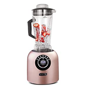 Dash DPB500RS Chef Series Blender with Stainless Steel Blades + Digital Display for Coffee Drinks, Frozen Cocktails, Smoothies, Soup, Fondue & More 64 oz