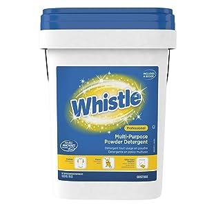 Diversey Whistle Multi-Purpose Powder Bulk Laundry Detergent (HE), Fresh Citrus Scent, 19 lb. Pail (CBD95729888)