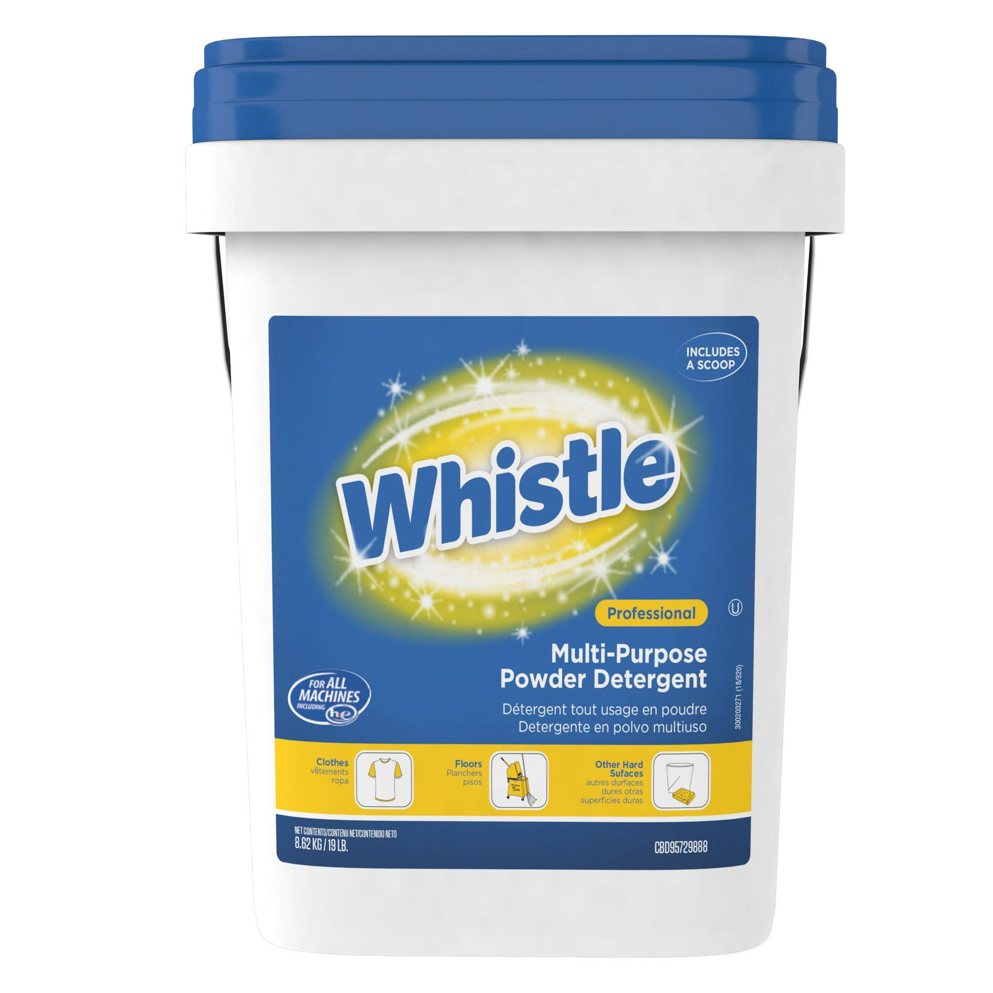 Diversey Whistle Multi-Purpose Powder Detergent, 19 lb Pail