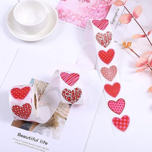 Autocollants Elcoho 600pcs Saint Valentin Coeur Stickers Autocollants Multicolore En Forme De Coeur Autocollants Pour La Saint Valentin Decoration De Mariage Style B Cuisine Maison Hotelaomori Co Jp