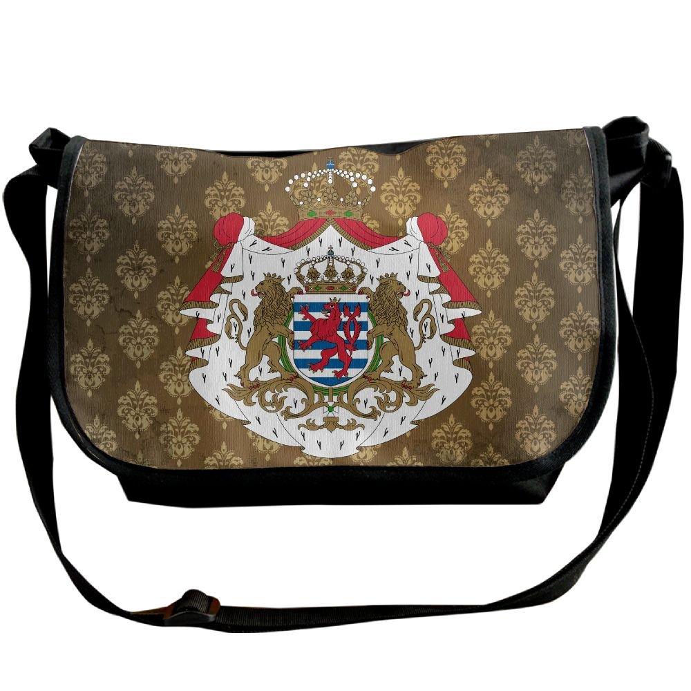 Lov6eoorheeb Unisex Coat Of Arms Of Luxembourg Wide Diagonal Shoulder Bag Adjustable Shoulder Tote Bag Single Shoulder Backpack For Work,School,Daily