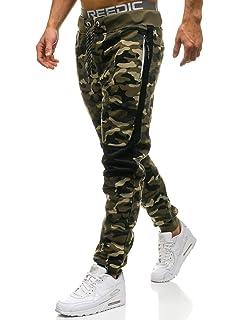 BOLF Hombre Pantalón De Chándal Jogger Pantalones Deportivos Diseño Camuflaje Pantalón de Algodón Estilo Urbano 6F6