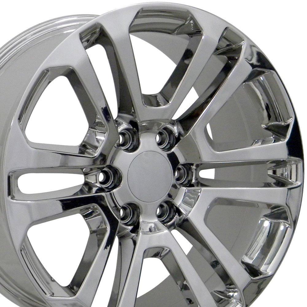 22x9 Wheels Fit GM Trucks - GMC Sierra Style Chrome Rims - SET