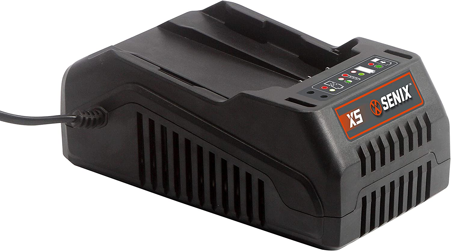 SENIX BLAX5-M-C 58V 90 Minute Battery Charger with Automatic Charging Status Indicator, Blue