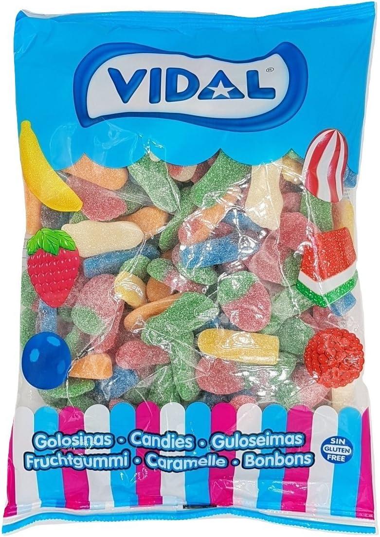 Vidal - Mega Surtido Brillo Ácido - gominolas surtidas - Caramelos de goma - 1 kg