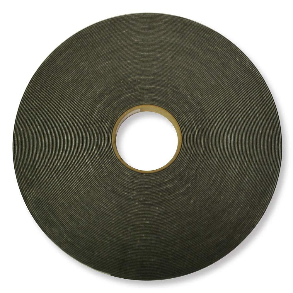 1/16'' x 1'' x 150' PVC Foam Tape - Black - 6 Rolls by LAMATEK