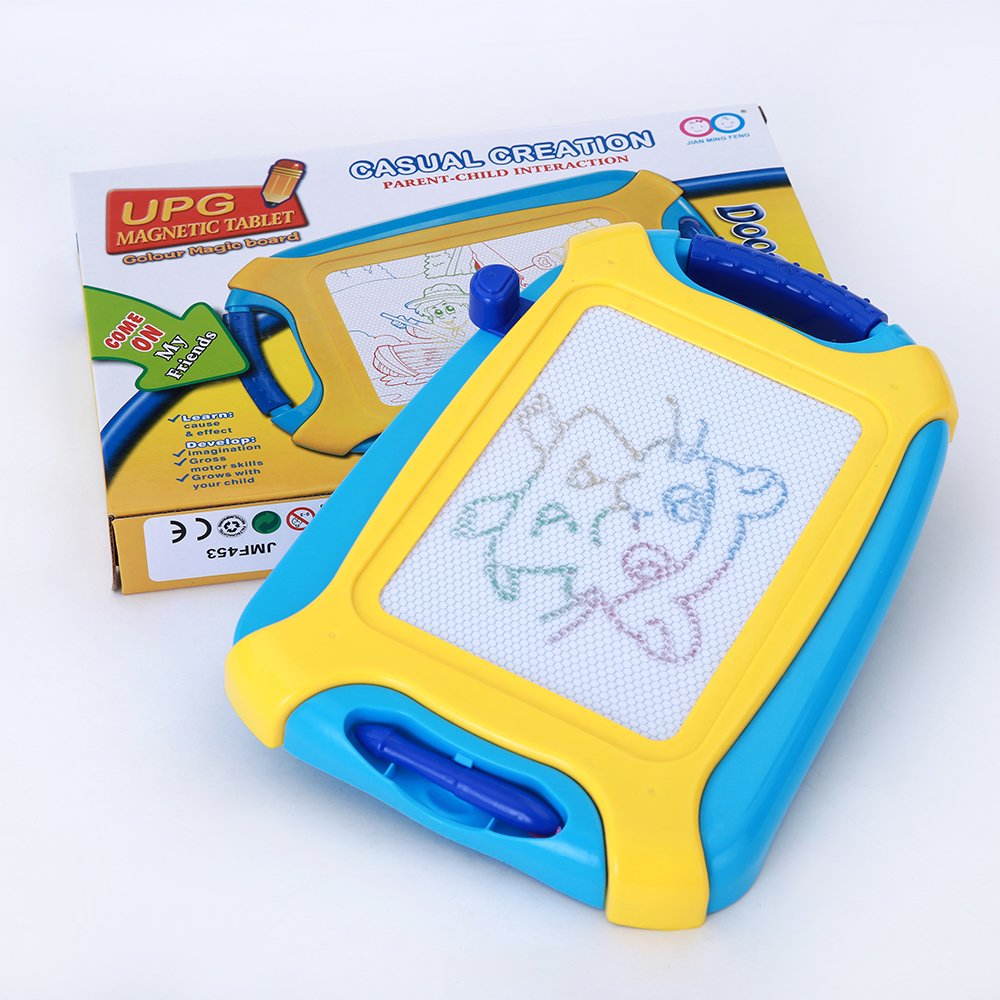 Magnetic Doodle Board, Colorful Drawing Board, Erasable Sketching Pad for Toddlers, Kids, Toys for Writing Painting and Learning (Travel Size)