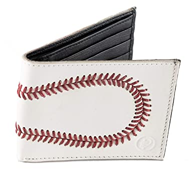 Image result for Genuine Sports Leather Mens Bifold Wallet in Gift Box