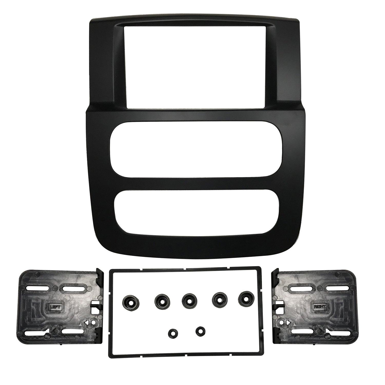 DKMUS Double Din Radio Stereo Dash Install Mount Trim Kit for 2002 2003 2004 2005 Dodge Ram 1500 2500 3500