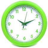 "Hippih 10"" Silent Quartz Decorative Wall Clock Non-ticking Black 249-B"