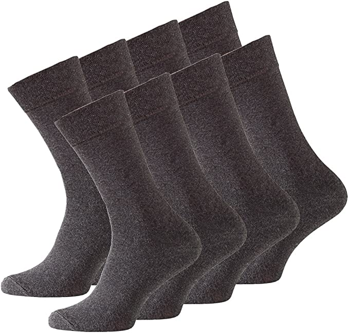 12 Pairs Of Mens//GENTS Mixed colours Cotton Rich Socks Adult UK Size 6-11 BROWN