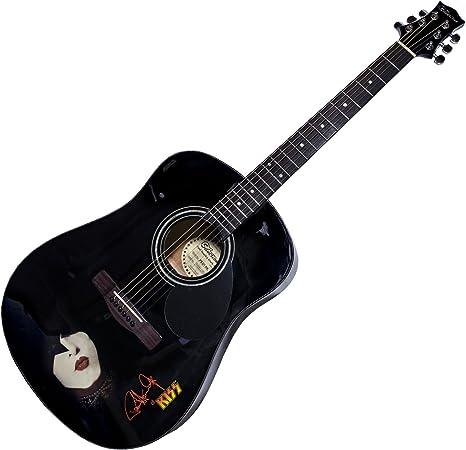 Paul Stanley by KISS - Guitarra acústica, color plateado: Amazon ...