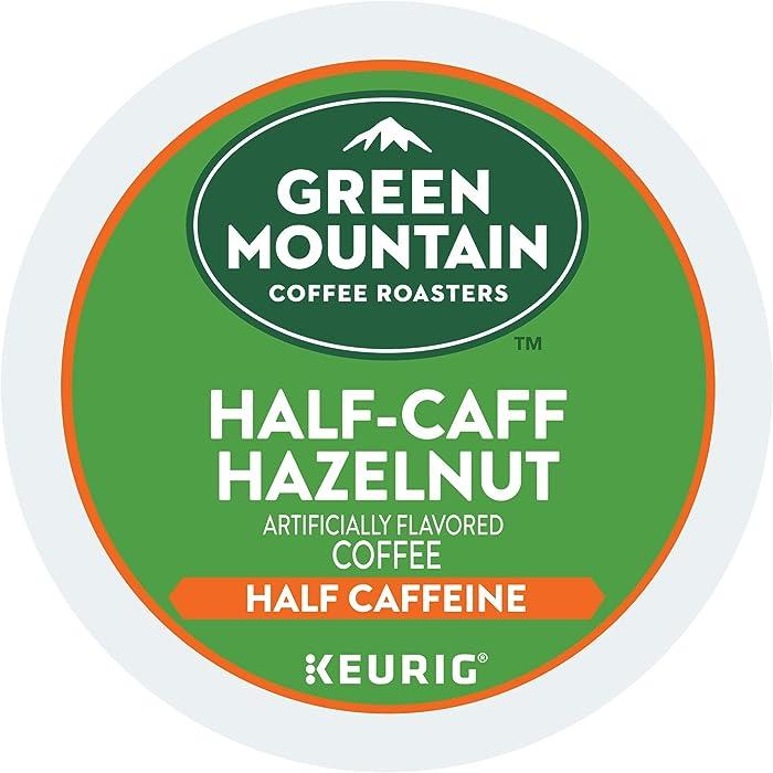 Green Mountain Coffee Roasters Half-Caff Hazelnut, Single-Serve Keurig K-Cup Pods, Flavored Medium Roast Coffee, 72 Count