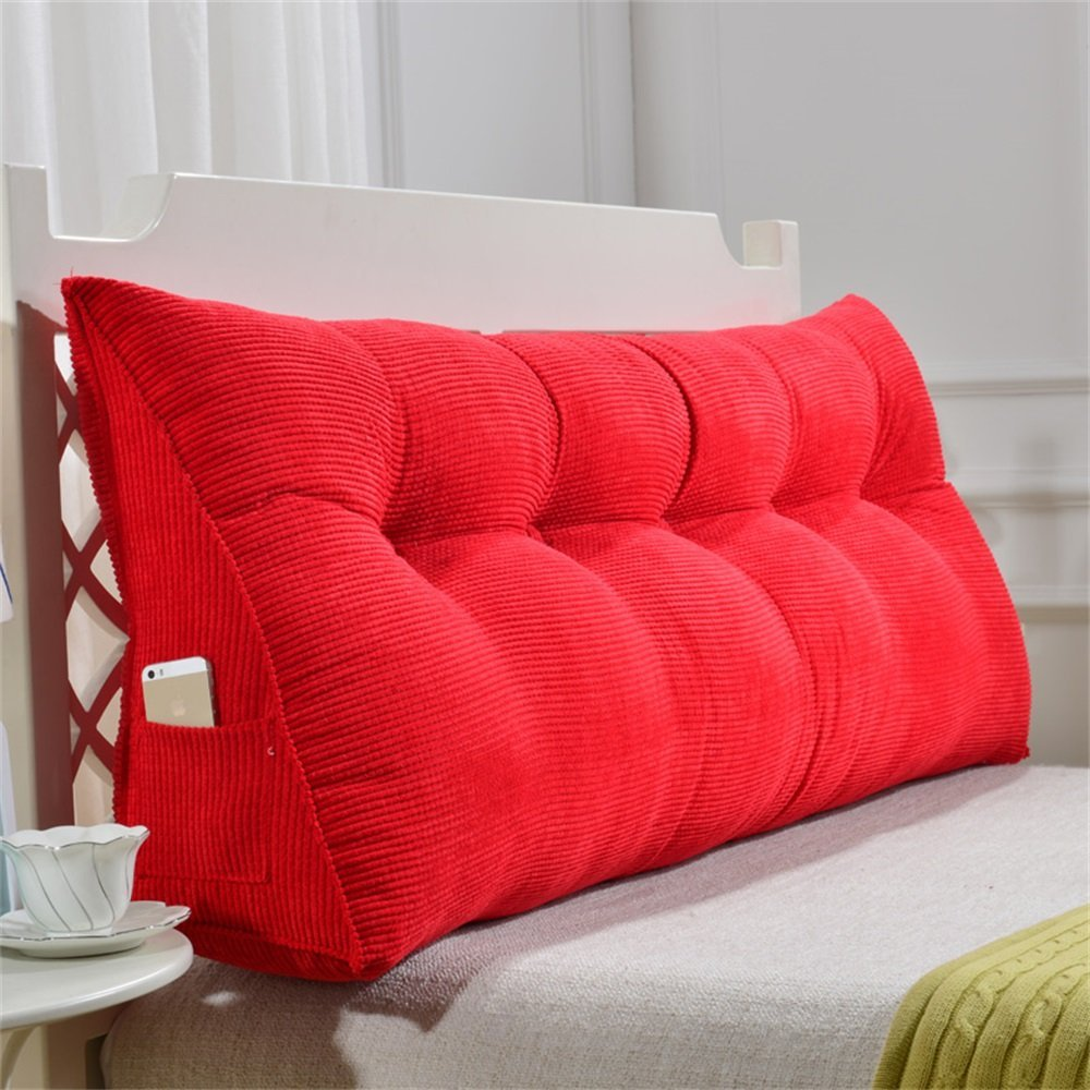取り外し可能な三角クッション/ピローダブルベッドソフトバッグベッドクッションベッドバックレスト (色 : Red, サイズ さいず : 100 * 50 * 20cm) B07DK57SVB 100*50*20cm|Red Red 100*50*20cm
