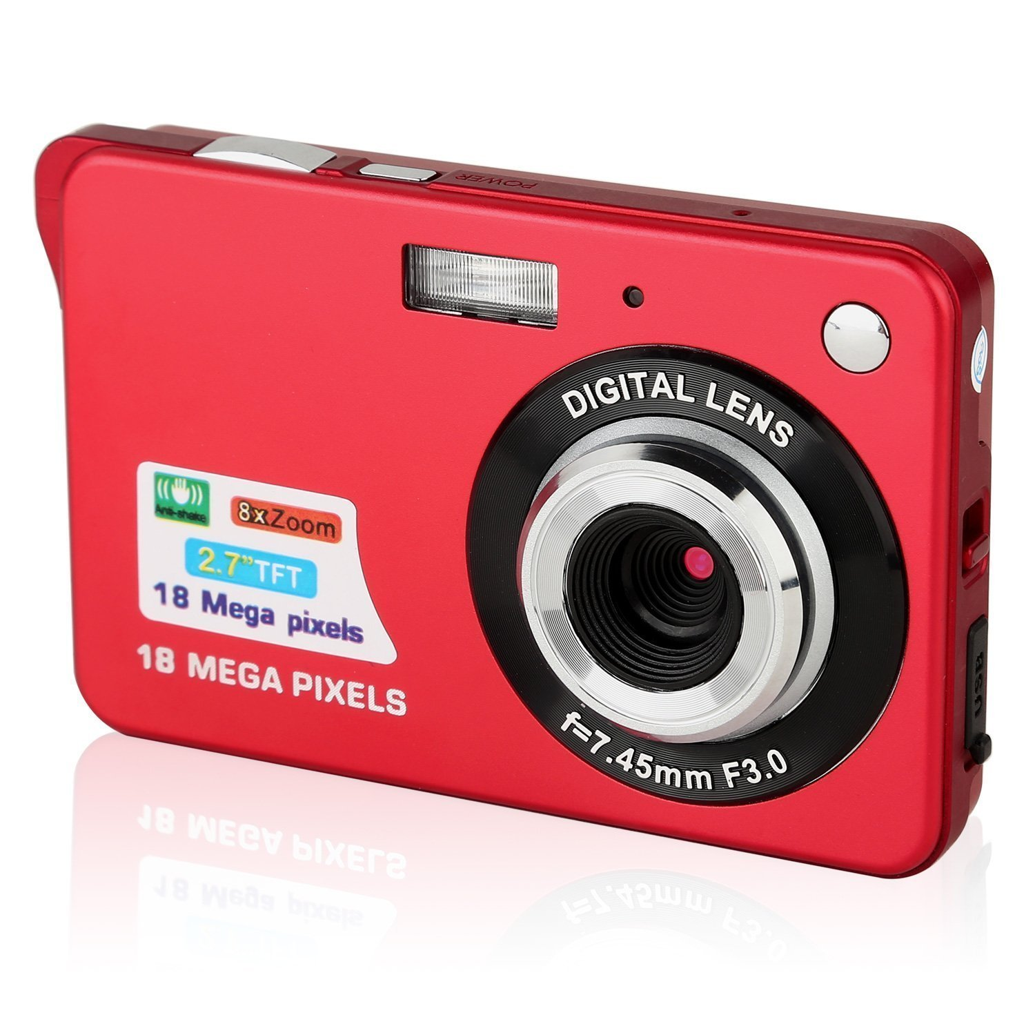 PowerLead 2.7 inch TFT LCD HD fotocamere digitale mini macchina fotografica-Rosso … product image
