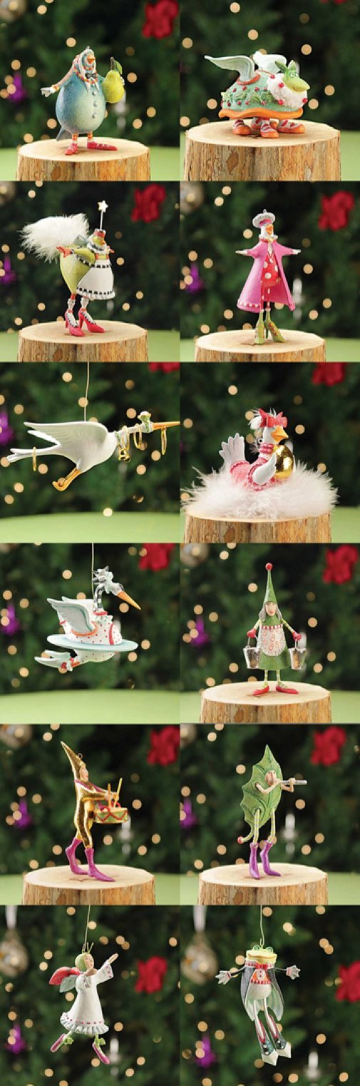 Patience Brewster Krinkles MIni 12 days of Christmas 12 ornaments