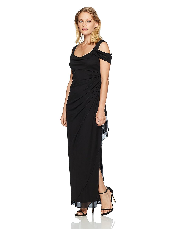 Alex Evenings Women\'s Long Mesh Cold Shoulder Dress at Amazon ...