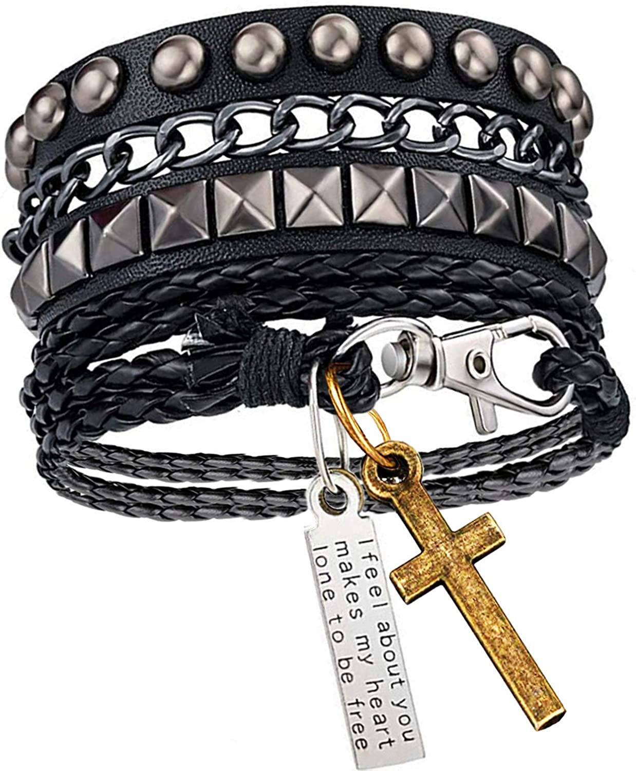 Rivet Bracelet Punk Rock...