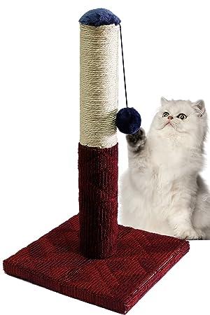 BPS Rascador Gato Juguete para Gatos con Bola Materiales Rugoso Tamaño 30 * 30 * 54 cm BPS-3197 (Rojo): Amazon.es: Hogar