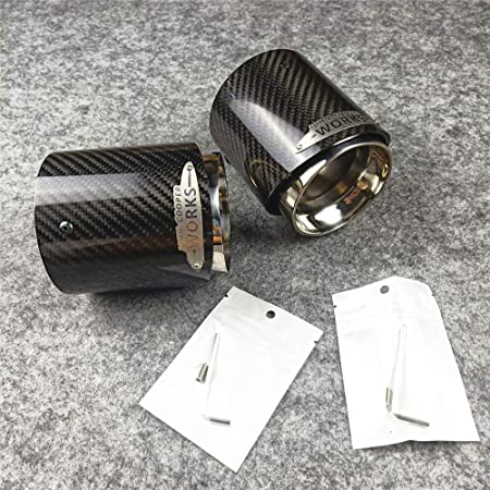 AniFM 1 PCS 3K Carbon Exhaust Muffler Car Exhaust Pipes for MINI Cooper S R55 R56 R57 R58 R59 R60 R61 F54 F56 F57 F60 Modified Accessories,F54F55F56F57F60