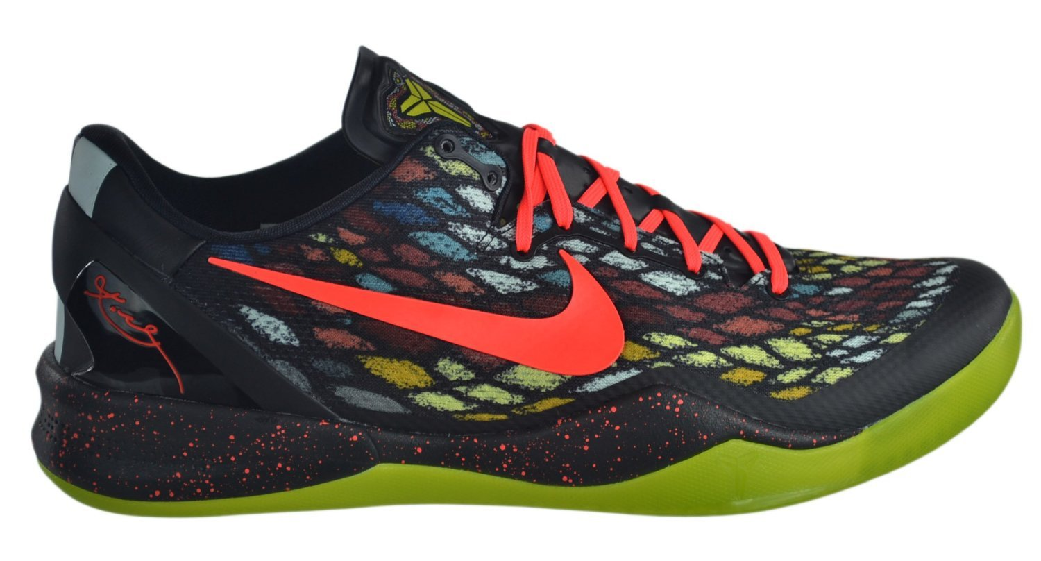 Nike Mens Kobe 8 VIII System ''Christmas Day'', Black/Bright Crimson/Fiberglass/Vivid Silver, 18 M US by NIKE