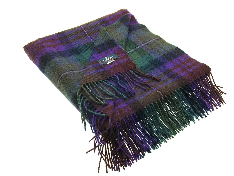 Isle of Skye Tartan Lambswool Blanket 142cm X 180cm