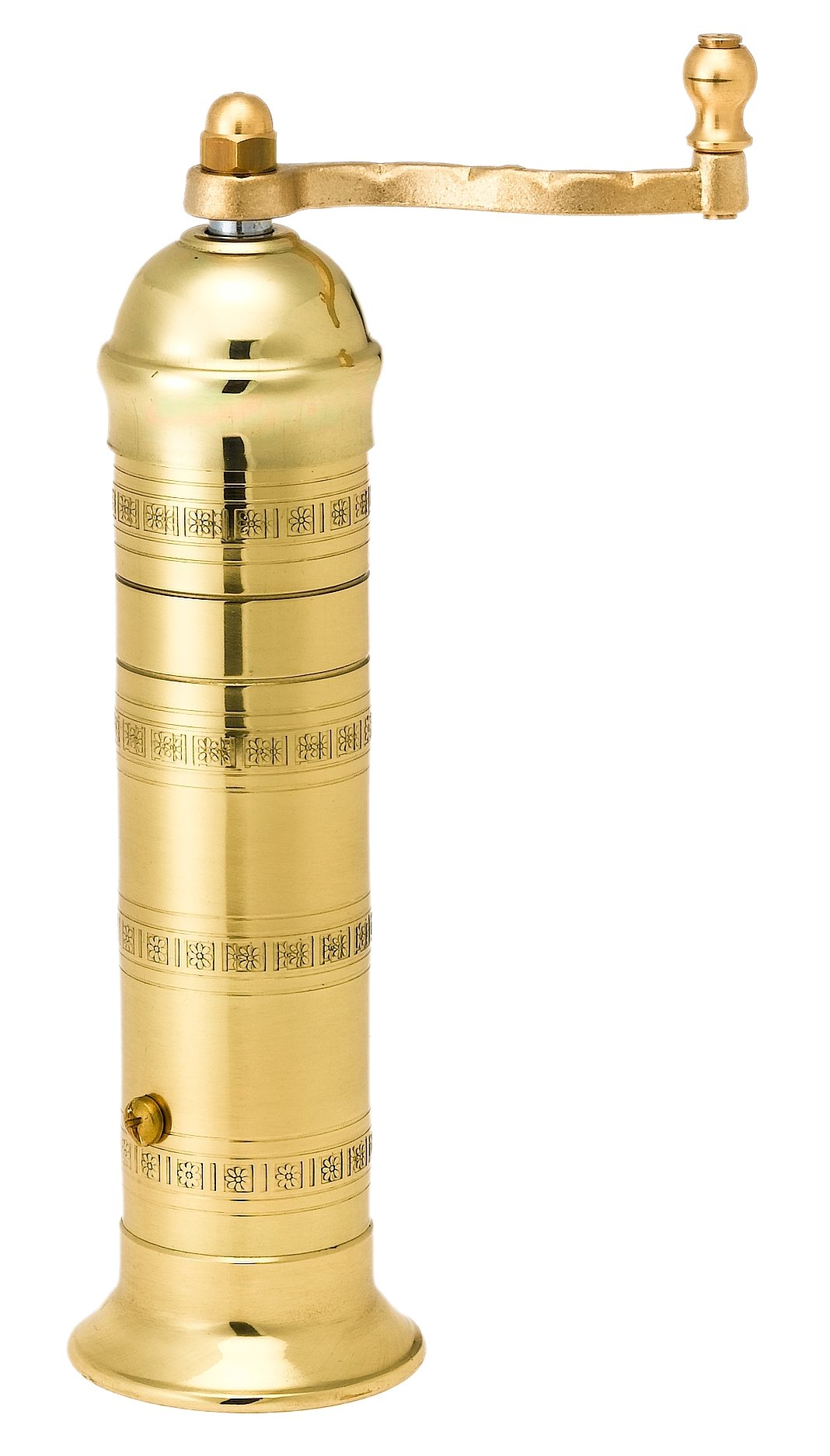 Pepper Mill Imports Atlas Pepper Mill, Brass, 8'' by Pepper Mill Imports