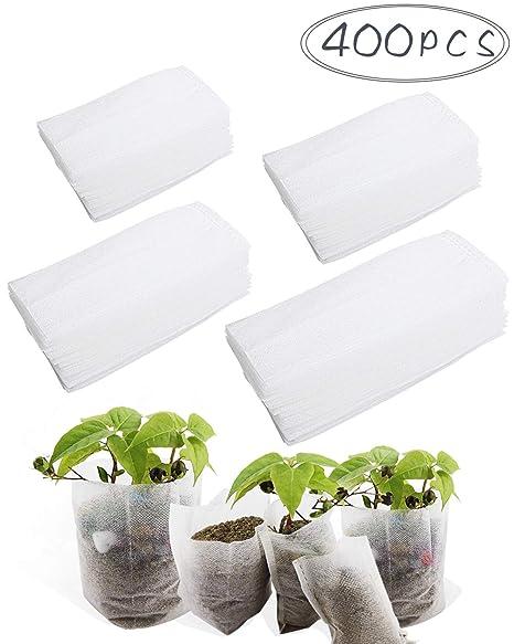 8*10cm Fabrics 100 Pcs/lot Nursery Pots Seedling-Raising Bags Garden Supplies US garden window