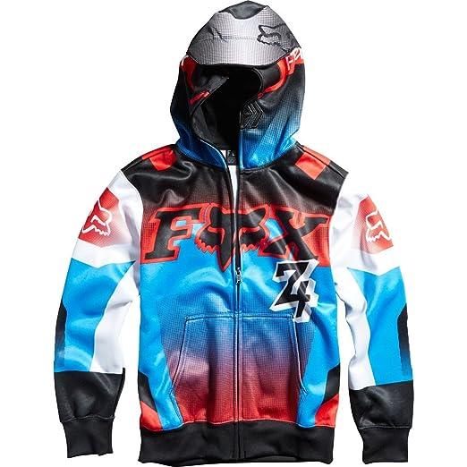 b94f34609 Fox Racing Youth Boys Imperial Fleece Hoody Zip Sweatshirt, Black, Large