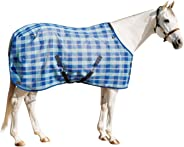 Kensington Platinum SureFit Protective Fly Sheet For Horses — SureFIt Cut With Snap Front Chest Closure — Made of Grooming M